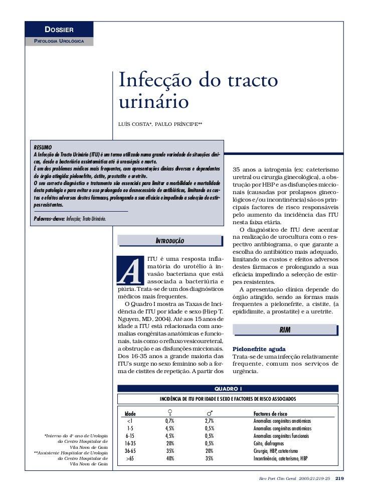 DOSSIERPATOLOGIA UROLÓGICA                                            Infecção do tracto                                  ...