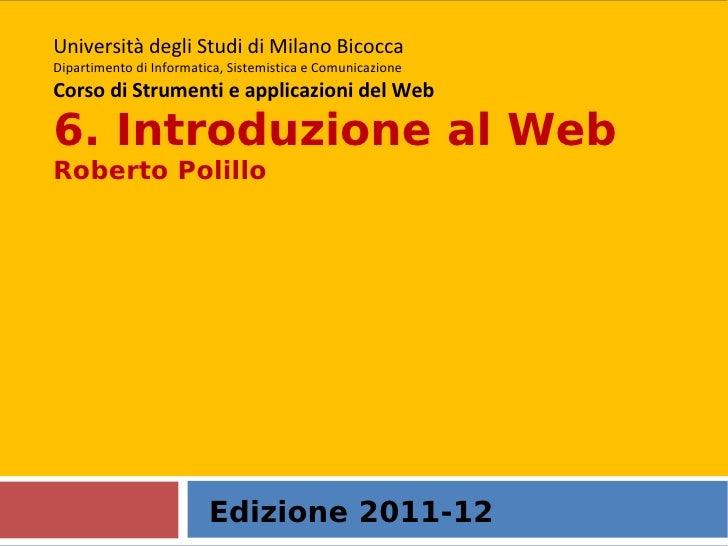 6. Introduzione al web