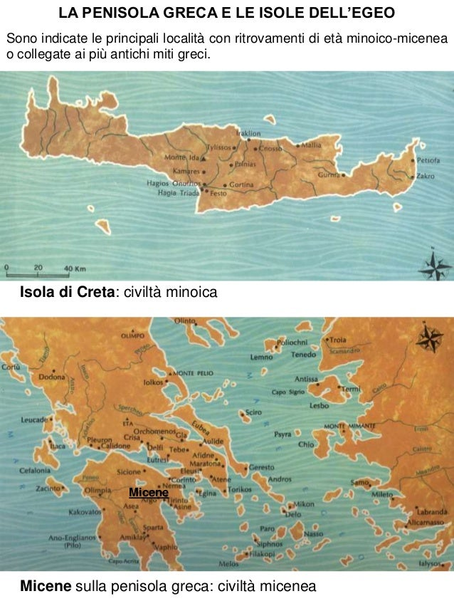6. La civilta' minoico micenea (Creta e Micene)