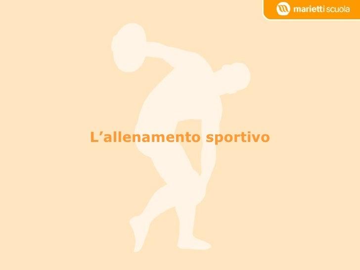 6   l'allenamento sportivo team