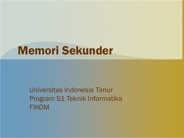6. memori sekunder