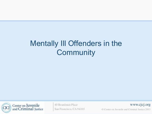 6. mentally ill offenders in the community