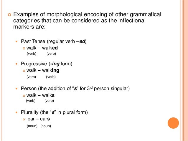 allomorph inflection and noun plural morpheme Sounds of bets and beds are allomorphs of the english noun-plural morpheme allomorph in inflectional suffixes (noun of the plural inflectional.