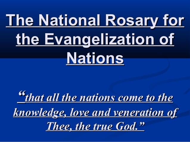 6. National Rosary Prayer