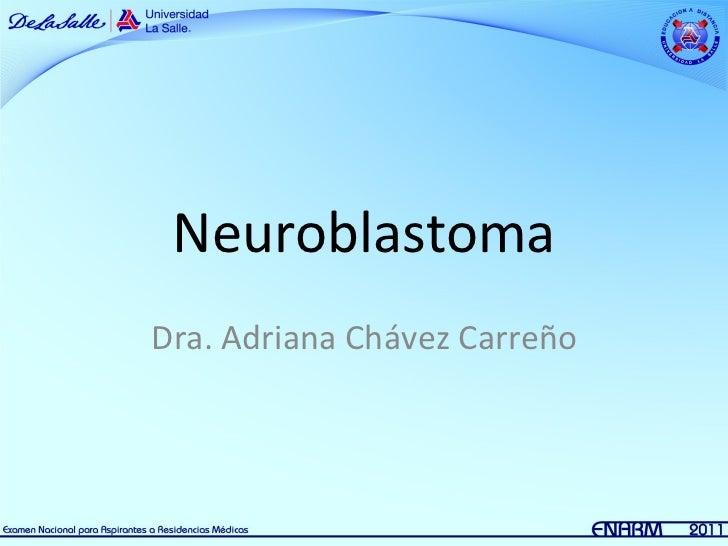 6.  Neuroblastoma Pediatría