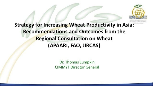 Increasing Wheat Productivity in Asia      Dr. Thomas Lumpkin – CIMMYT Director GeneralStrategy for Increasing Wheat Produ...