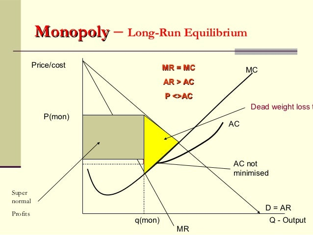 monopoly and price Entry into the market is blocked, which gives the firm market power (ie, the  power to raise price above marginal cost) historically, pure monopolies are rare  and.