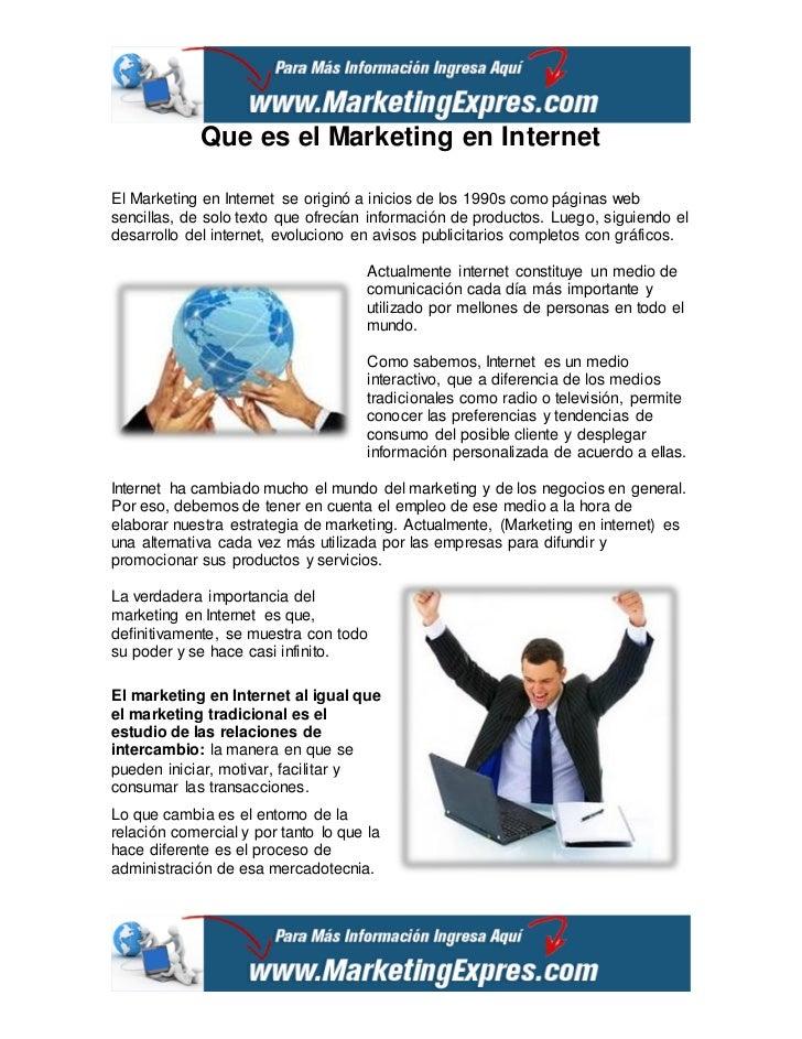 que es el marketing en internet