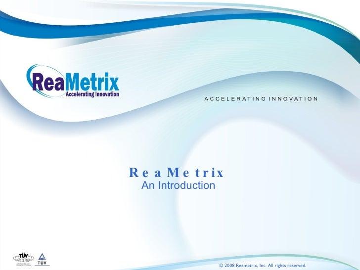 ReaMetrix Overview