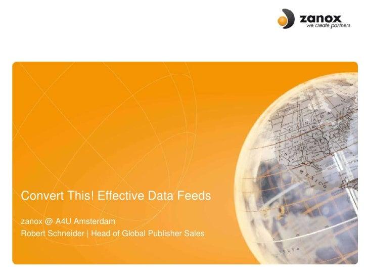 XML and Data Feeds - Standardisation and Implementation for Success (Robert Schneider)