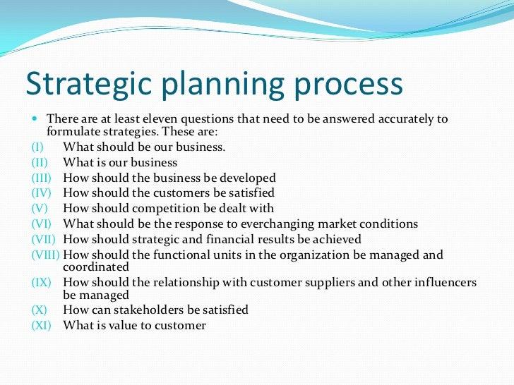 importance of strategic planning essay