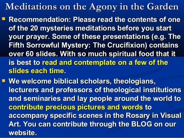 Sorrowful Mysteries 1: Agony