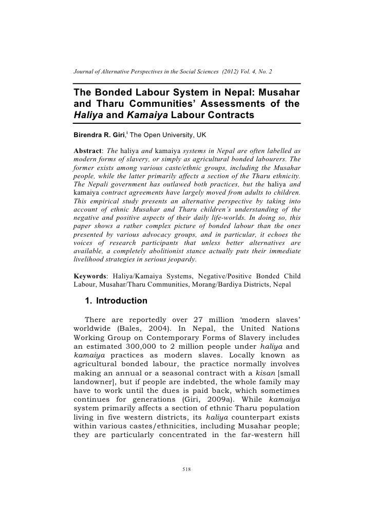 Haliya Kamaiya 6. the bonded labor system in nepal