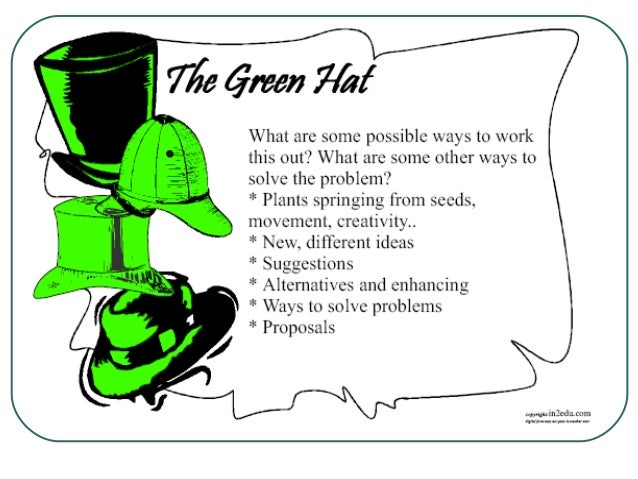 Think Green Green Hat Thinking