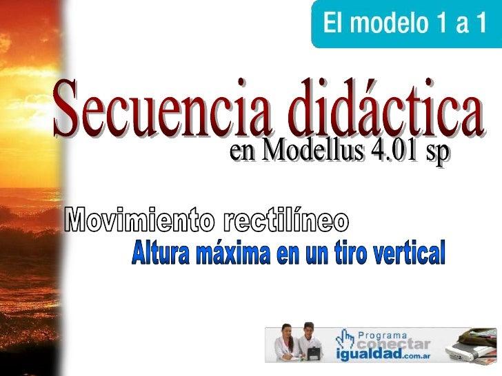 Breve tutorial en castellano de Modellus 4.01