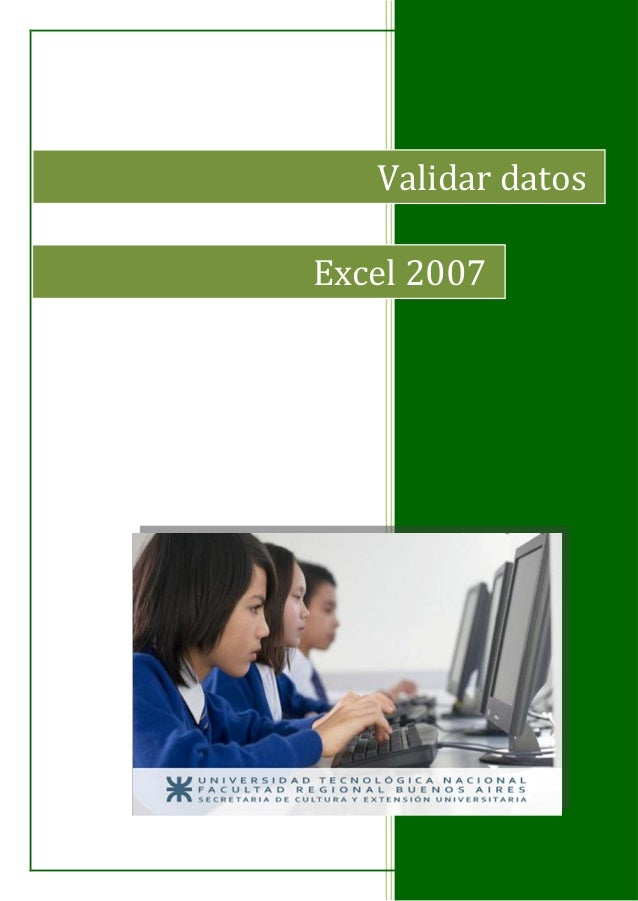 Validar datos Excel 2007