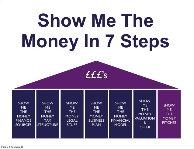 Show Me The                  Money In 7 Steps                                            £££'s                            ...