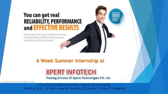 Live Project Based Summer Industrial Internship For Bca/ B.E. / B.Tech/ Mca/ M.Tech/ B.TECH/ Bsc IT/ Msc IT Students 6 Wee...