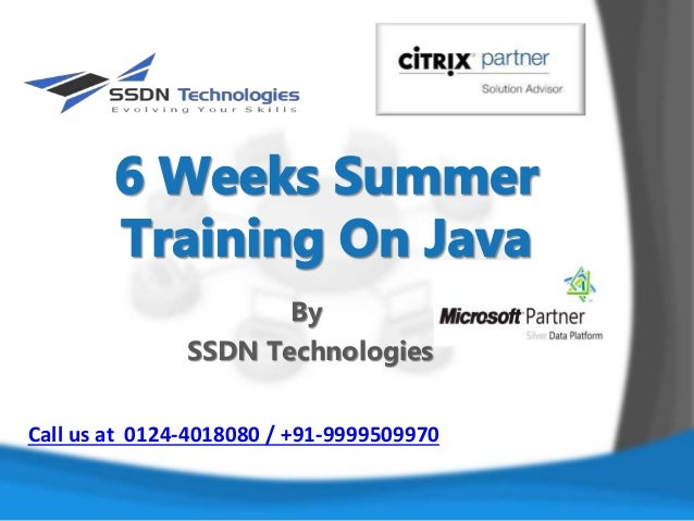 6 Weeks Summer Training on Java By SSDN Technologies