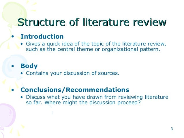 Discussion literature review