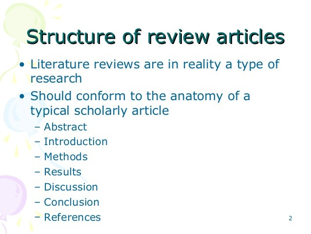 Scholarly literature review