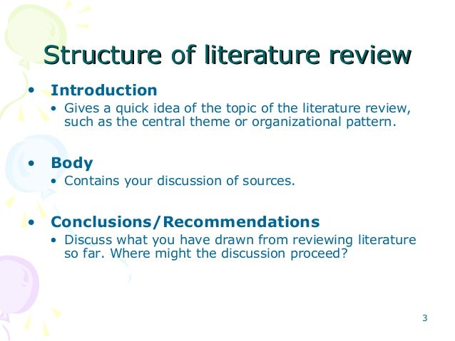 How to write intro to literature review