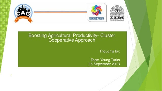 Boosting Agricultural Productivity- Cluster Cooperative Approach Thoughts by: Team Young Turks 05 September 2013
