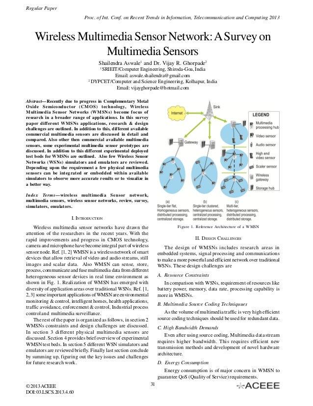 Wireless Multimedia Sensor Network: A Survey on Multimedia Sensors