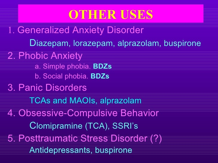 Buspar For The Generalized Anxiety Disorder