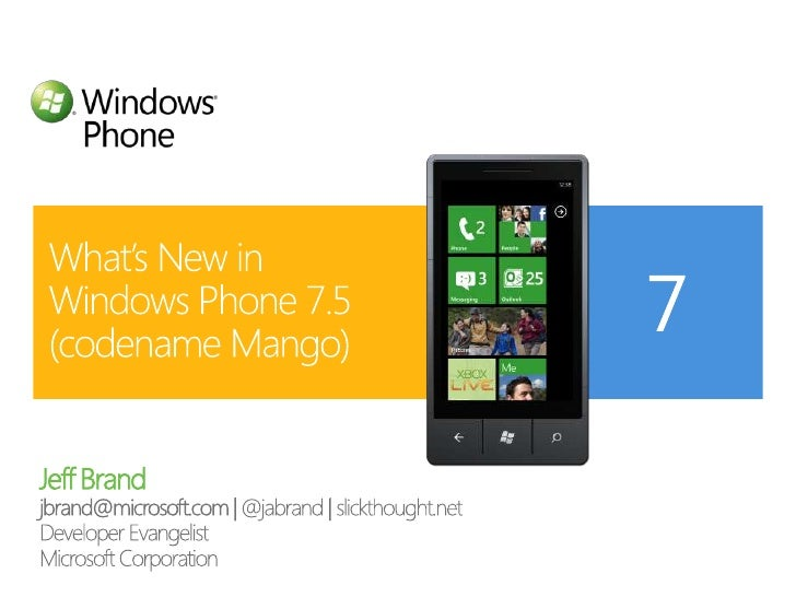 "What's New in Windows Phone ""Mango"""