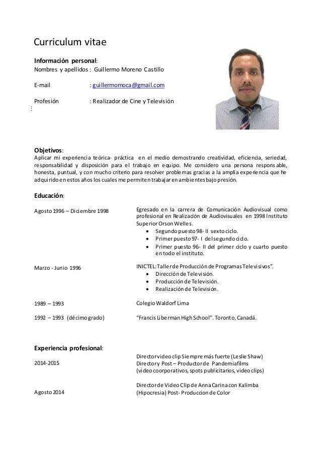 curriculum vitae 2015 gmc2