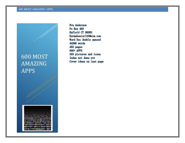 600 most amazing apps PDF