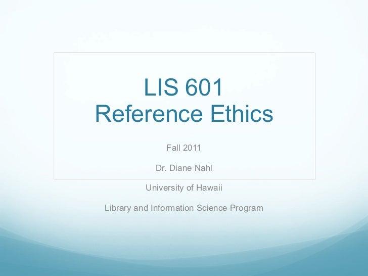 601 Session 11-12-Ethics