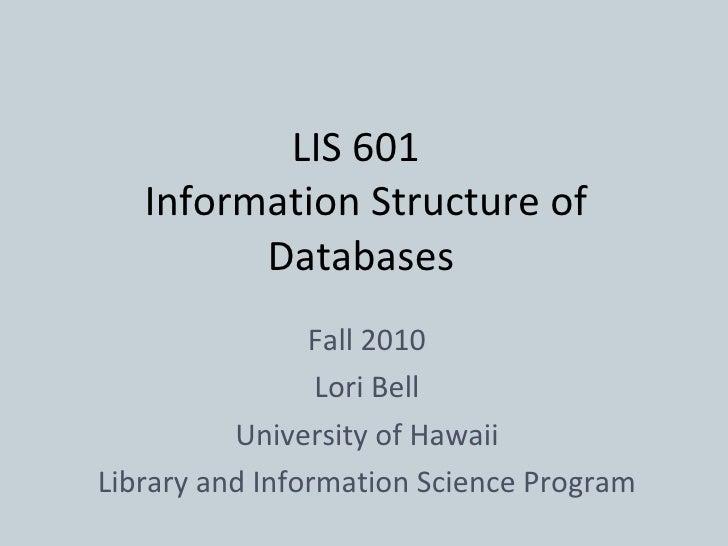 601 l3-database