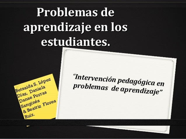 diplomado en problemas de aprendizaje: