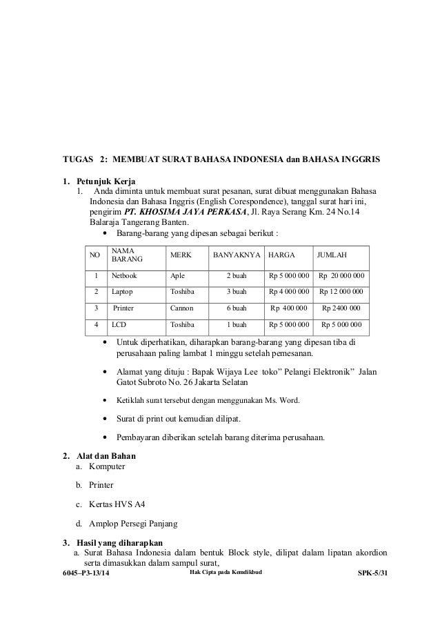 Contoh Laporan Pkl Smk Ap Administrasi Perkantoran Lowongan Contoh Contoh Surat Menyurat