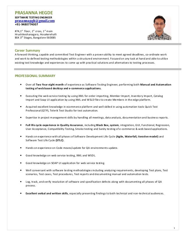 Cover Letter Sample Tester Test Analyst Quality Engineer - induced.info
