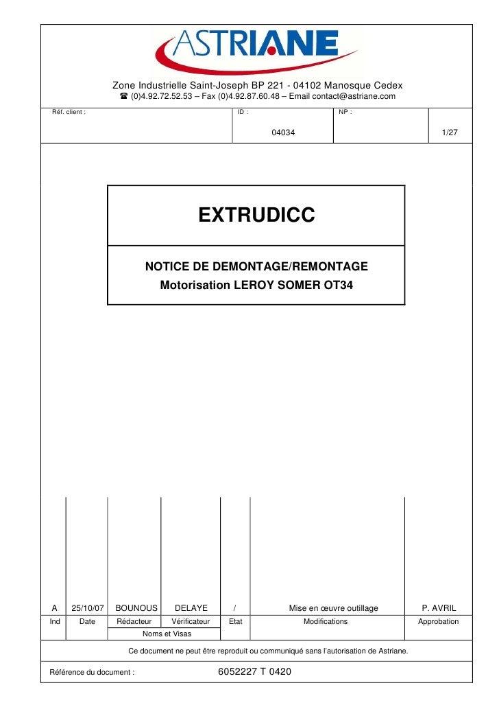 Zone Industrielle Saint-Joseph BP 221 - 04102 Manosque Cedex                       (0)4.92.72.52.53 – Fax (0)4.92.87.60.48...