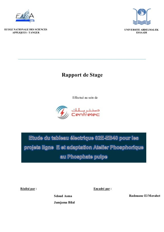 rapport de stage en 2014 centrelec