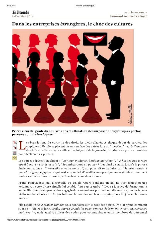Le Monde Eco 2 déc 2014