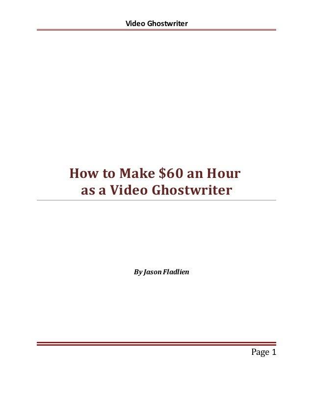 Video Ghostwriting