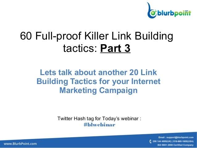 60 Full-proof Killer Link Building tacticsPart 3