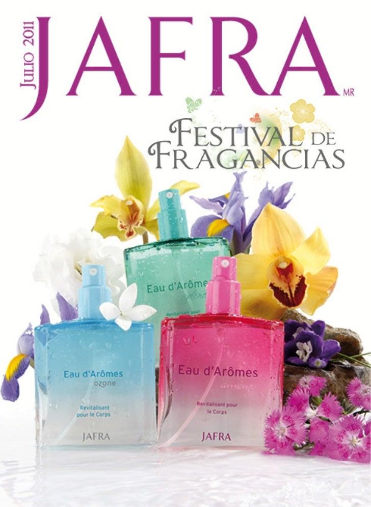 "Catalogo de Julio - Jafra ""Festival de Fragancias"""