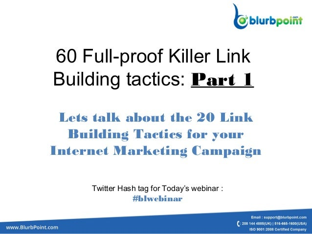 60 Killer Link Building Tactics Part 1