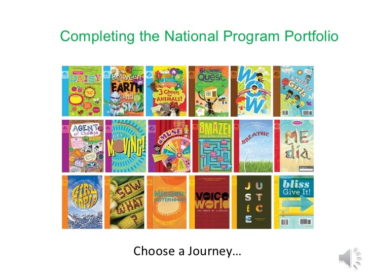 Completing the National Program Portfolio Choose a Journey…