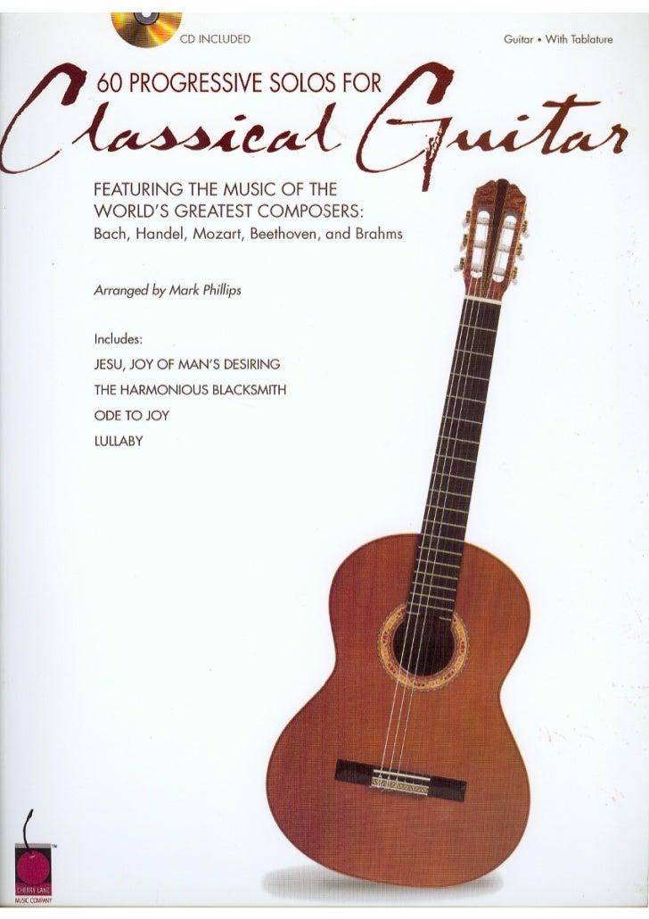 60 solos de guitarra clasica for Partituras de guitarra clasica