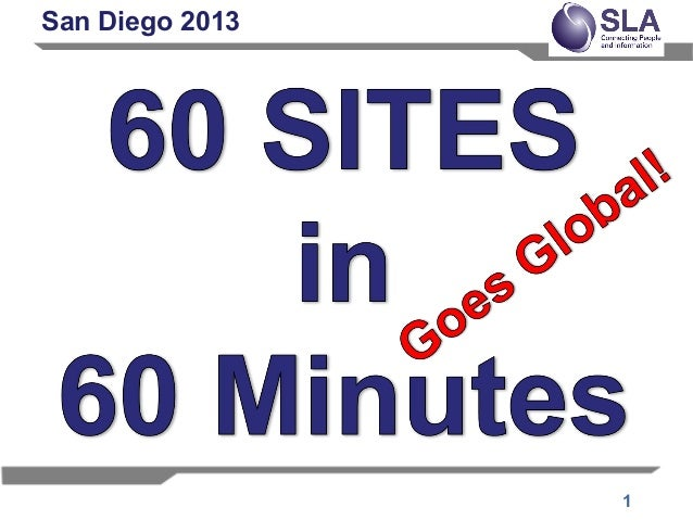 60 Sites in 60 Minutes SLA 2013