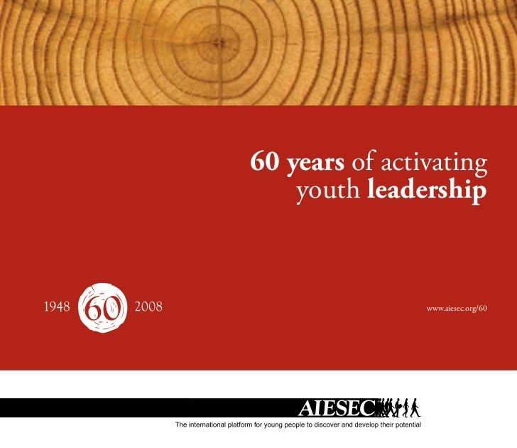 60 years of activating    youth leadership                www.aiesec.org/60