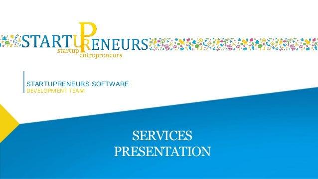 Startup Entrepreneurs - Software Development