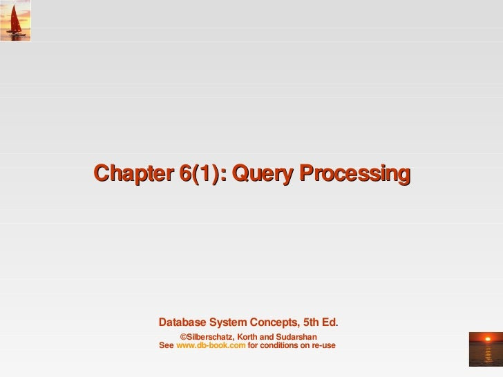 Chapter 6(1): Query Processing